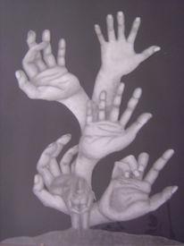 Hände, Empfangen, Entfalten, Zeichnungen