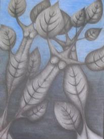 Blätter, Wachsen, Frau, Zeichnungen