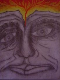 Erleuchtung, Surreal, Zeichnung, Augen