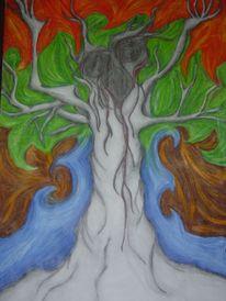 Surreal, Trauer, Baum, Zeichnung