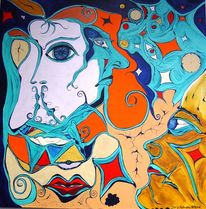 Zeit, Malerei, Surreal,