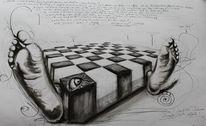 Zeichnungen, Würfel, Weg, Realität