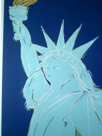 Türkis, Freiheitsstatue, New york, Malerei
