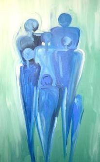 Malerei, Menschen, Treffen, Abstrakt