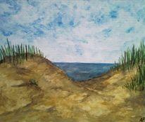 Wasser, Blau, Sand, Strand