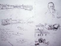 Skizze, Italien, Zeichnungen