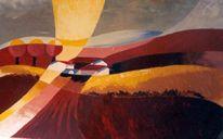 Landschaft, Acrylmalerei, Sommer, Malerei