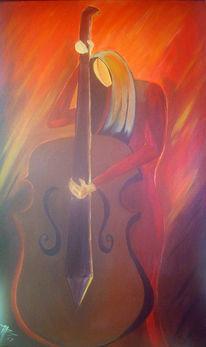 Geige, Musik, Acrylmalerei, Malerei