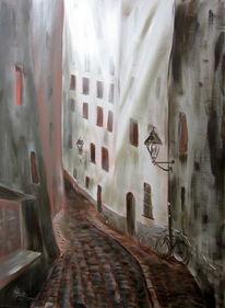 Abend, Passau, Bayer, Fenster