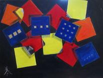 Spiel, Fenster, Architektur, Acrylfarben