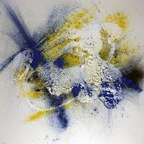 Schwarz weiß, Fantasie, Abstrakt, Gelb