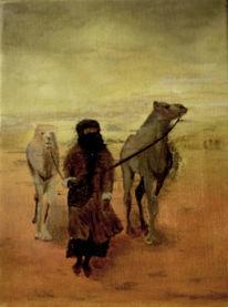 Araber, Sand, Wüste, Malerei