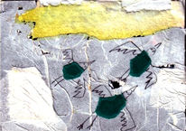 Collage, Illustration, Malerei, Fliegende
