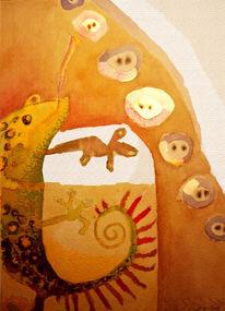 Aquarellmalerei, Zeichnung, Illustration, Zeichnungen