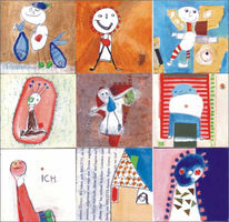 Spiel, Collage, Kinder, Illustration