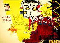 Leben, Gelb, Frieden, Ölmalerei