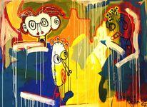 Blau, Popart, Ölmalerei, Acrylmalerei