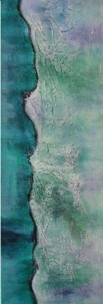 Ruhe, Grün, Acrylmalerei, Besinnung