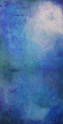 Acrylmalerei, Ruhe, Blau, Meditation