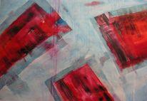 Rot, Blau, Abstrakt, Spannung