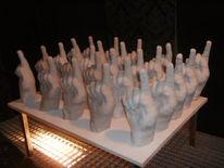 Armee, Finger, Skulptur, Figurengruppe
