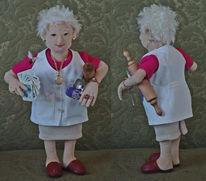 Puppe, Oma, Textil, Figur