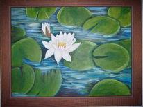 Ölmalerei, Malerei, Seerosen