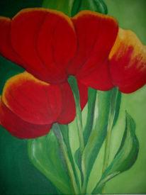 Ölmalerei, Malerei, Stillleben, Tulpen