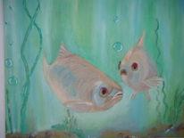 Ölmalerei, Malerei, Figural, Freunde