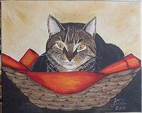 Figural, Acrylmalerei, Katze, Malerei