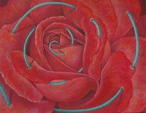 Spirale, Rot, Rose, Liebe