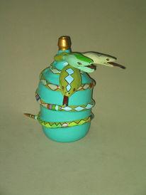 Pappmaché, Bodenvase, Design, Schlange