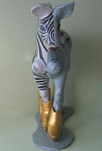 Esel, Streifen, Zebra, Gold
