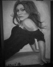 Frau, Schwarz weiß, Portrait, Augen