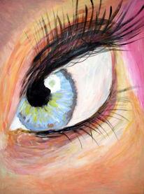 Augen, Rosa, Malerei, Portrait
