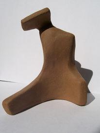 Surreal, Ton, Sitzen, Skulptur