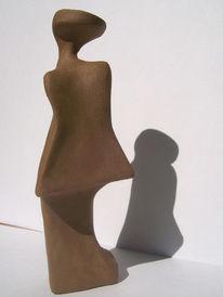 Skulptur, Surreal, Schüchtern, Ton