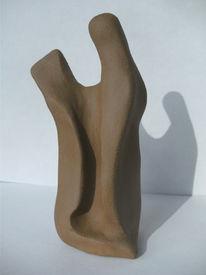 Paar, Plastik, Ton, Skulptur