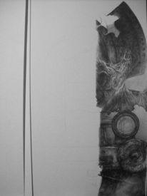 Zeit, Dampflok, Zeichnung, Schraffur