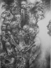 Körper, Zeichnung, Abstrakt, Surreal