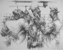 Vegetarismus, Menschen, Veganismus, Zeichnung