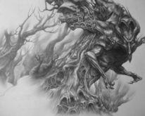 Surreal, Zeichnung, Monster, Zeichnungen