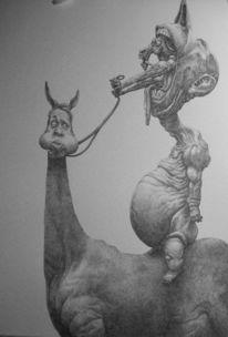 Menschen, Surreal, Pferde, Zeichnung