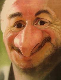 Acrylmalerei, Portrait, Stern, Figural