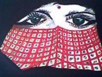 Indinerin, Rot schwarz, Augen, Gesicht