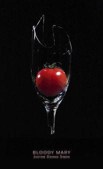 Glas, Scherbe, Tomate, Fotografie