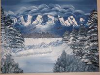 See, Wald, Landschaft, Winter