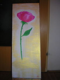 Blumen, Acrylmalerei, Zart, Blüte