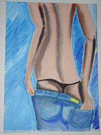 Malerei, Menschen, Jeans