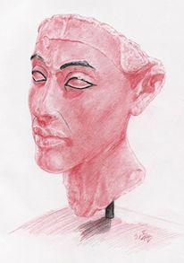 Portrait, Ägypten, Antike, Pharao